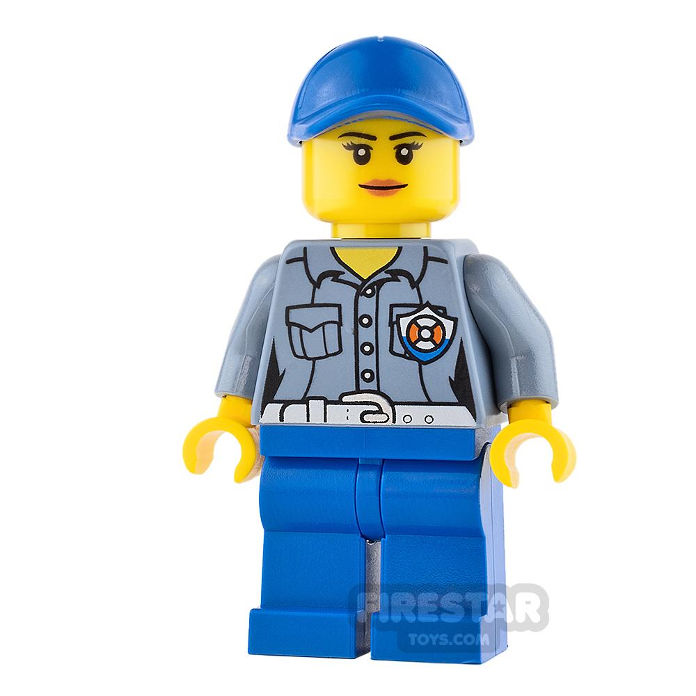 LEGO City Mini Figure - Female City Coast Guard ATV Driver