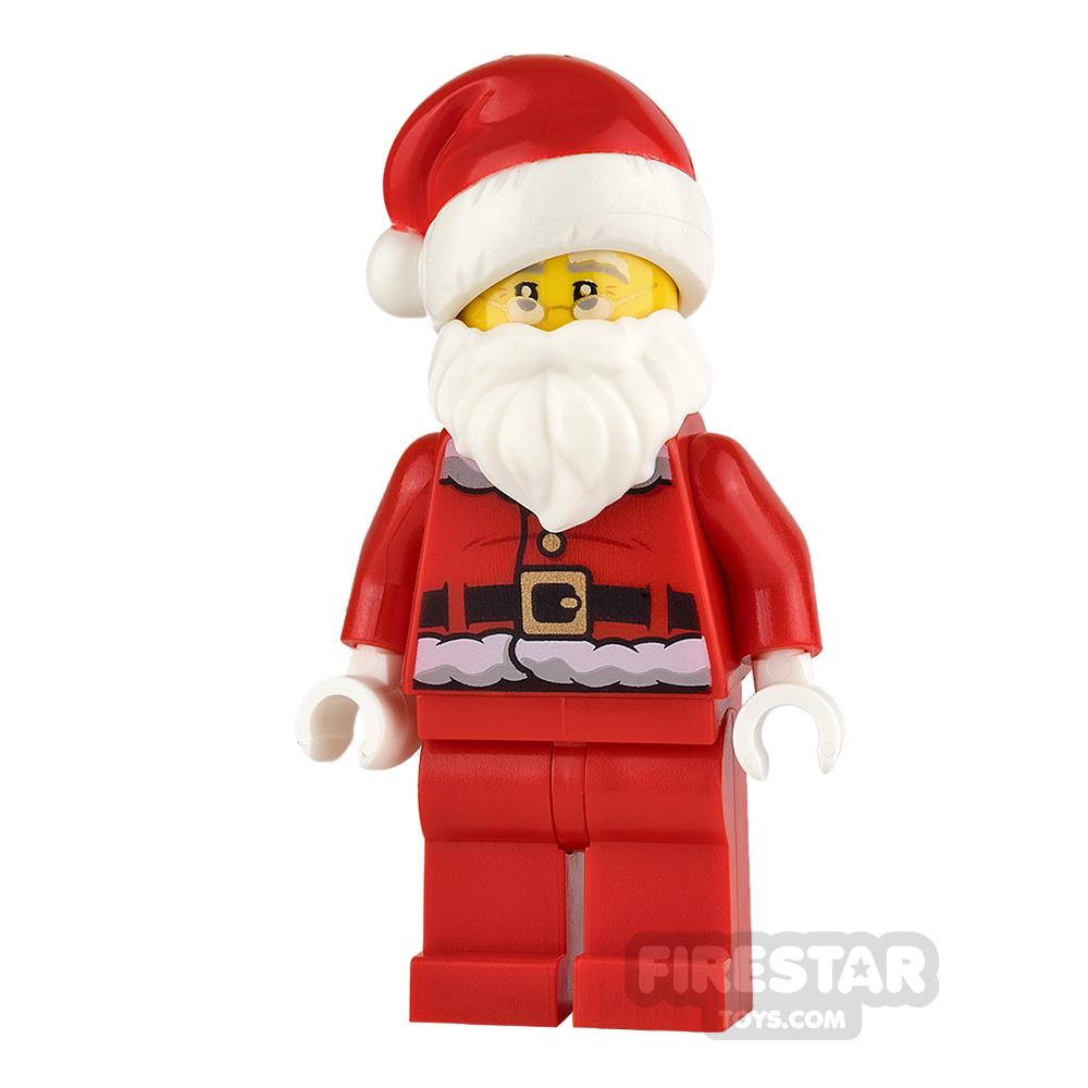 LEGO City Mini Figure - Santa - Fur Lined Jacket and Glasses