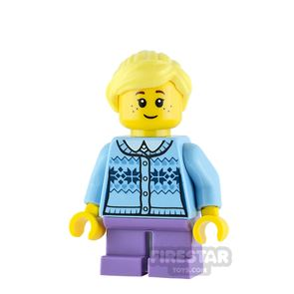 LEGO City Minifigure Girl with Fair Isle Sweater