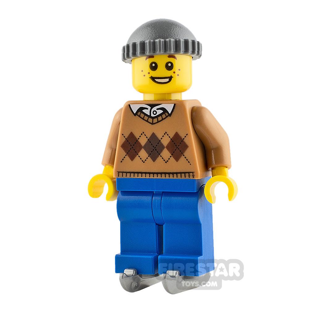 LEGO City Minifigure Boy on Ice Skates