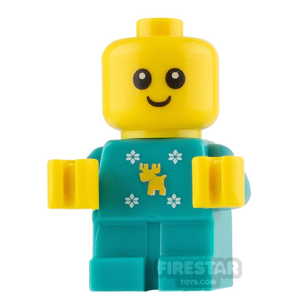 LEGO City Mini Figure - Baby in Reindeer and Snowflakes Onesie