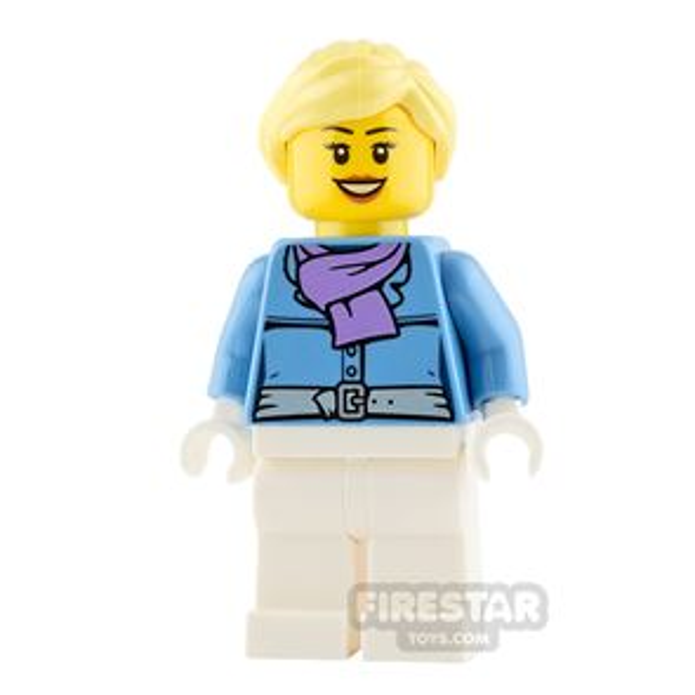 LEGO City Minifigure Medium Lavender Scarf