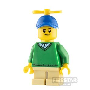 LEGO City Minfigure Green Sweater and Propeller