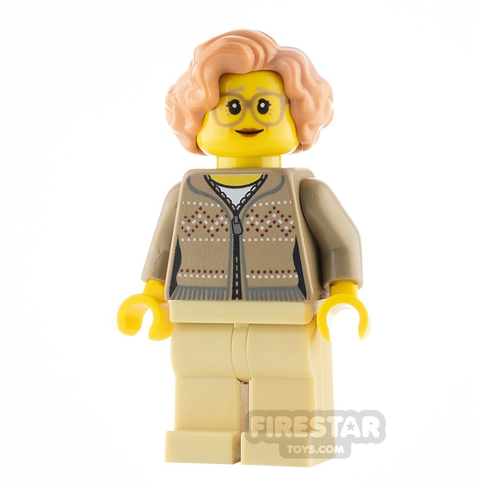 LEGO City Minfigure Grandma Fair Isle Sweater