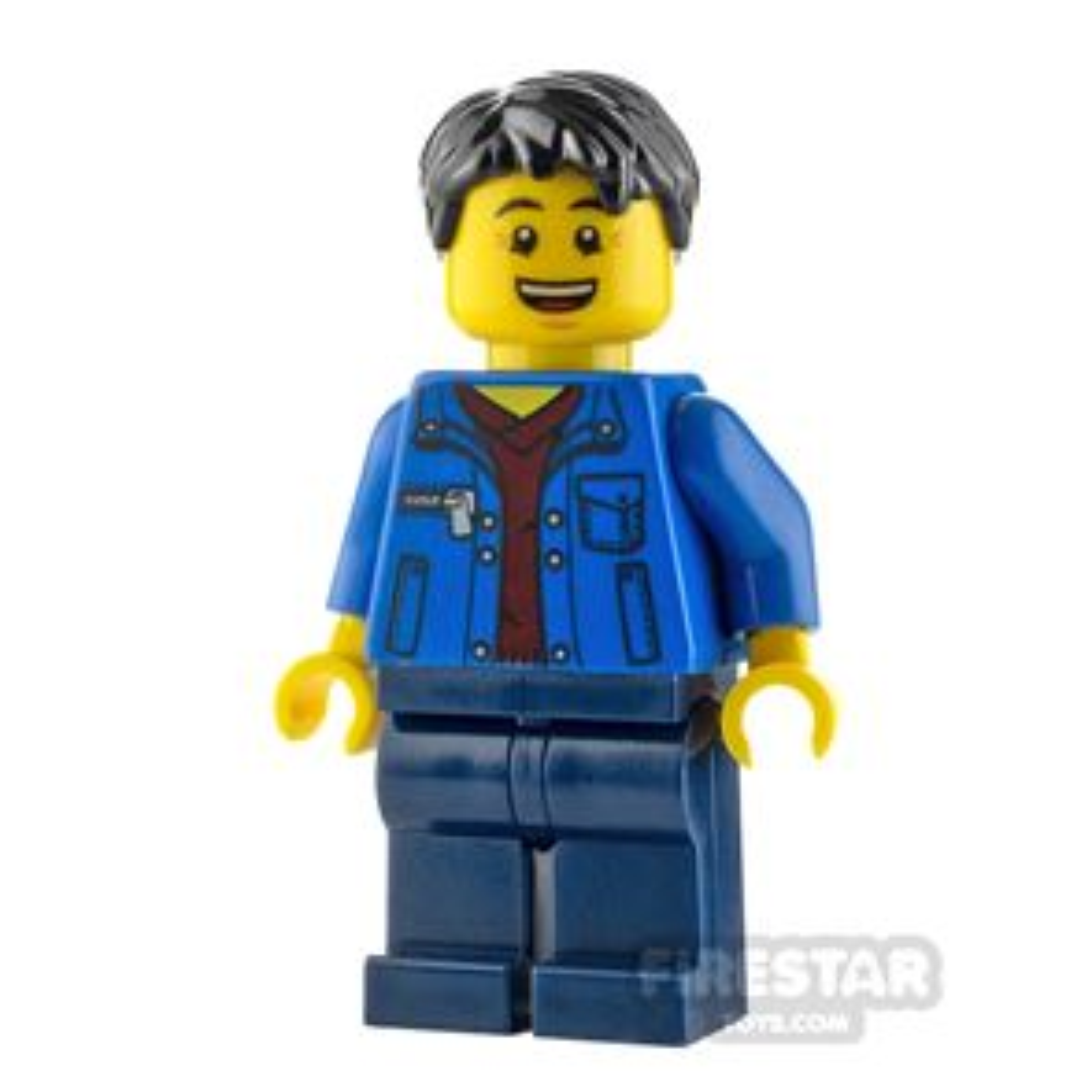 LEGO City Minfigure Man with Blue Jacket