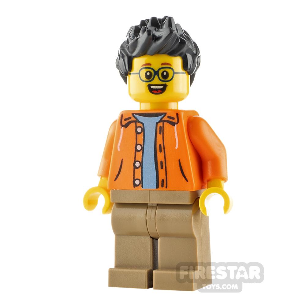 LEGO City Minfigure Man with Orange Jacket