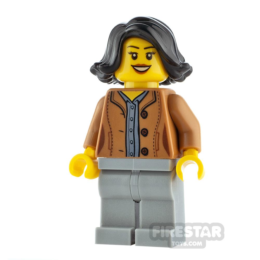 LEGO City Minfigure Woman Medium Dark Flesh Jacket
