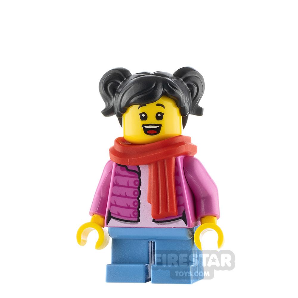 LEGO City Minfigure Girl Pink Puffy Jacket