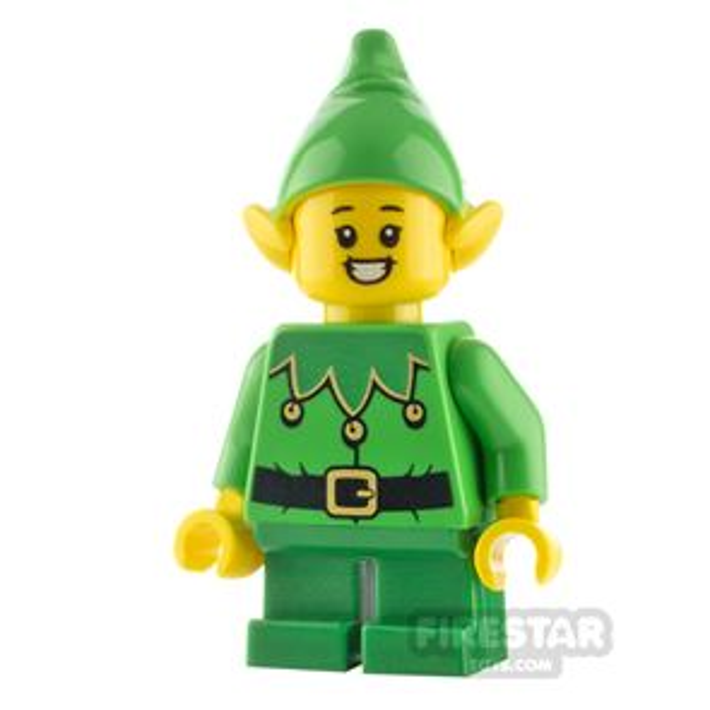 LEGO City Minifigure Elf Scalloped Collar and Big Smile