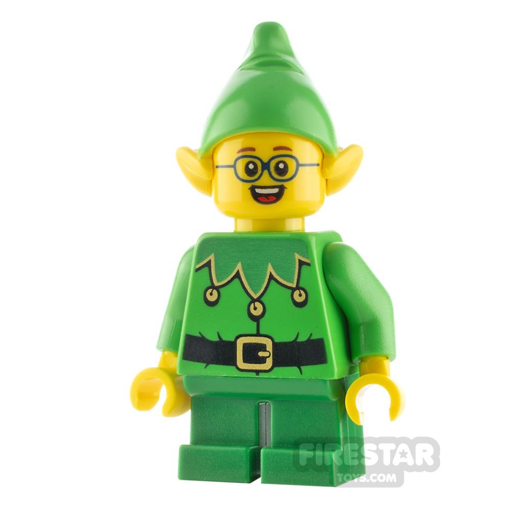 LEGO City Minifigure Elf Scalloped Collar and Glasses