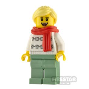 LEGO City Minifigure Woman with Snowflakes Jumper