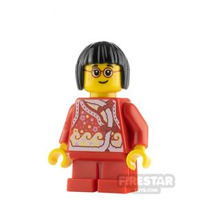 LEGO City Minifigure Girl with Red Qipao