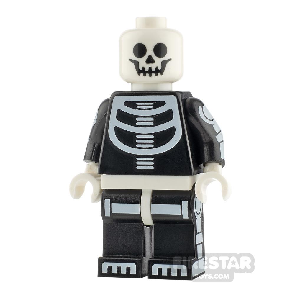 LEGO City Minifigure Skeleton Guy White Head