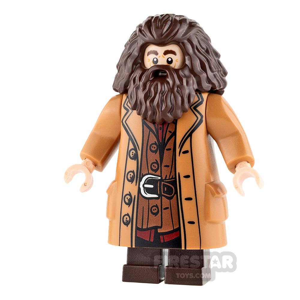 LEGO Harry Potter Mini Figure - Hagrid - Medium Dark Flesh Coat