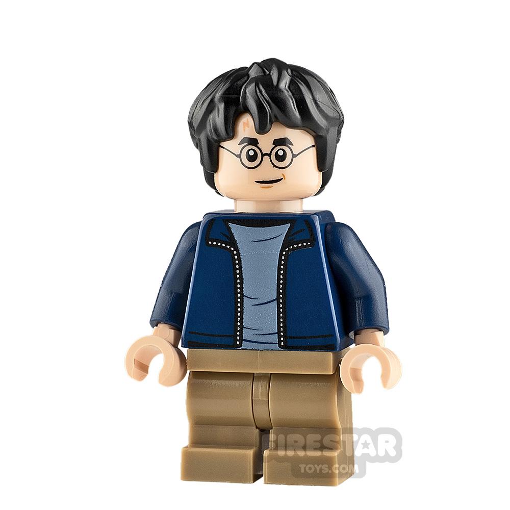 LEGO Harry Potter Minifigure Harry Potter Dark Blue Jacket