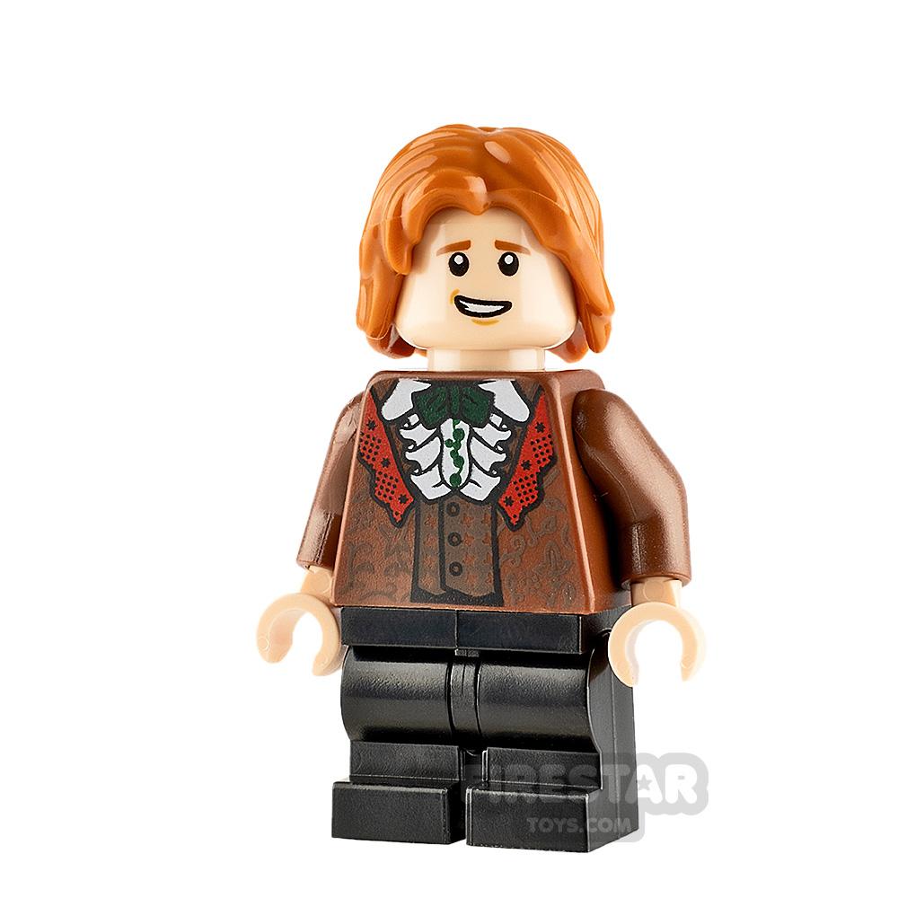 LEGO Harry Potter Minifigure Ron Weasley Reddish Brown Suit