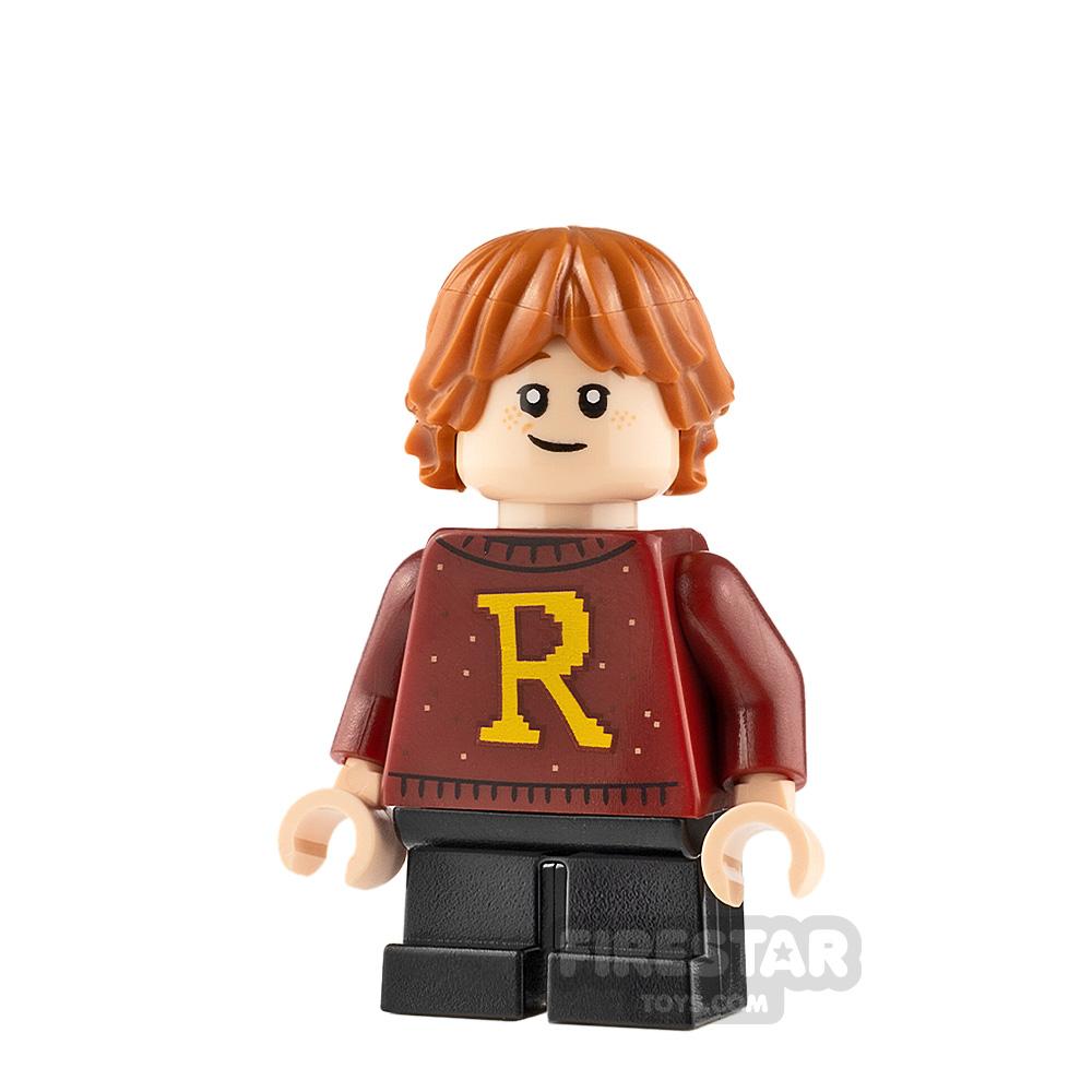 LEGO Harry Potter Minifigure Ron Weasley Dark Red Sweater