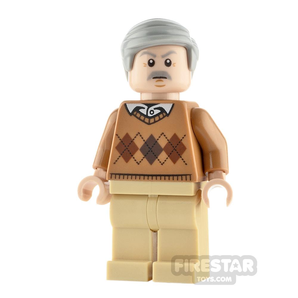 LEGO Harry Potter Minifigure Vernon Dursley Argyle Sweater
