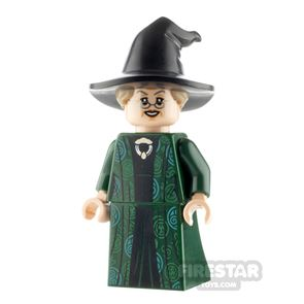LEGO Harry Potter Minifigure Professor McGonagall Hat with Hair