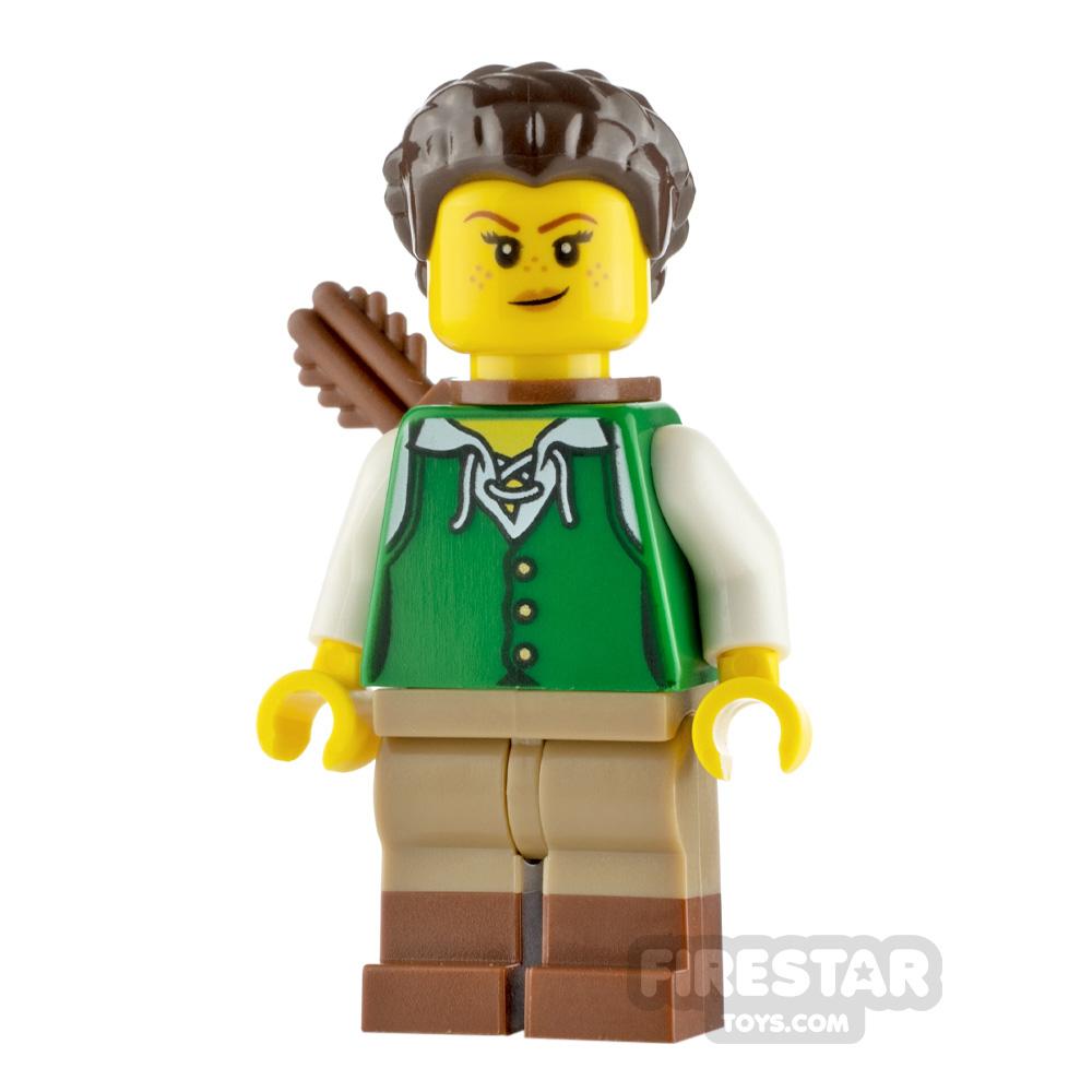 LEGO Ideas Minifigure Huntress Green Tunic