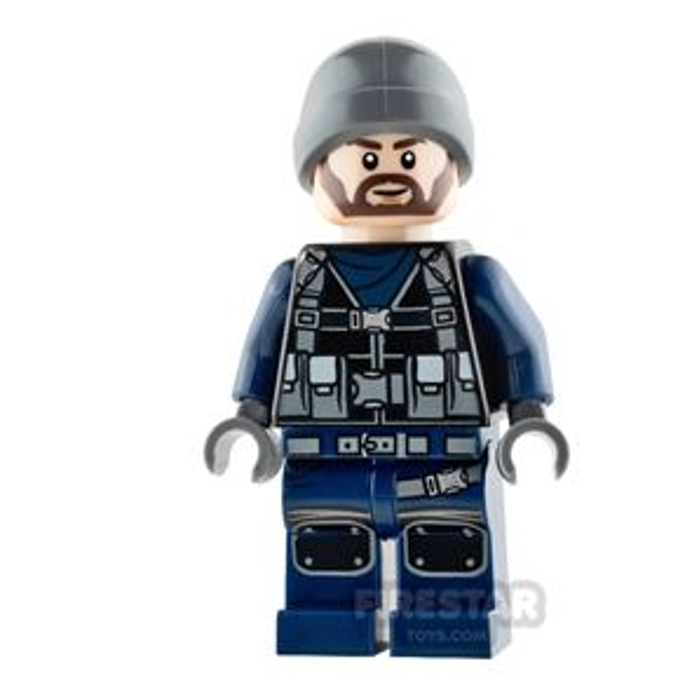 LEGO Jurassic World Figure - Guard - Ski Beanie
