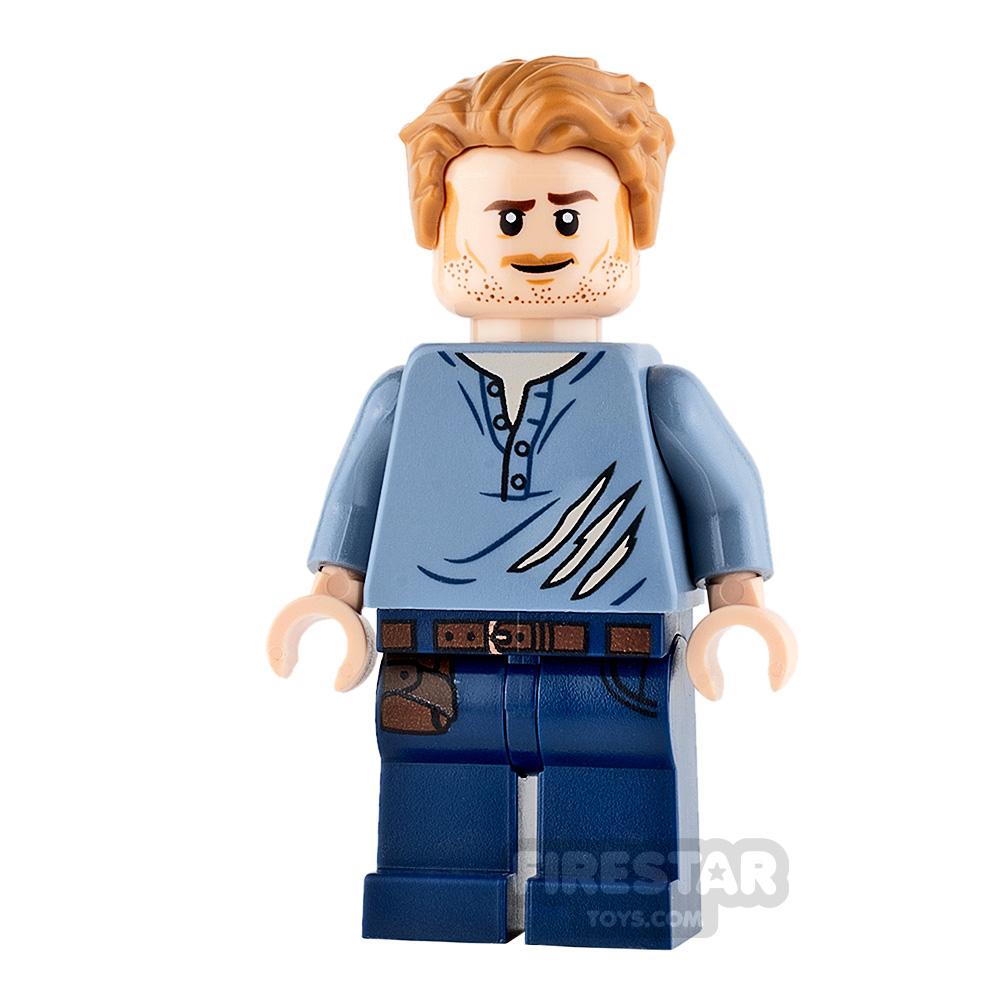 LEGO Jurassic World Figure Owen Grady Ripped Shirt