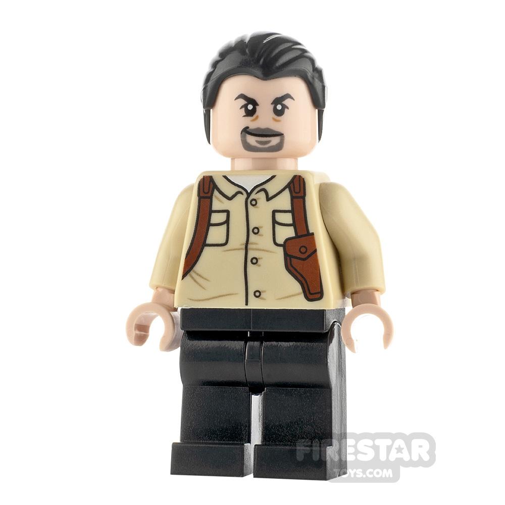 LEGO Jurassic World Figure Vic Hoskins Black Hair