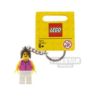 LEGO Key Chain City Classic Girl Pink Top