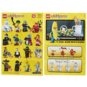 LEGO - Minifigures Series 16 Collectable Leaflet