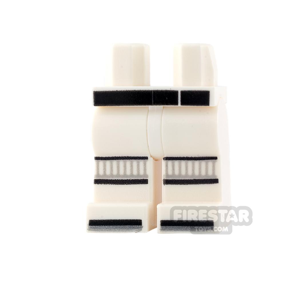 LEGO Mini Figure Legs - Ninjago - Black Belt and Knee Pads