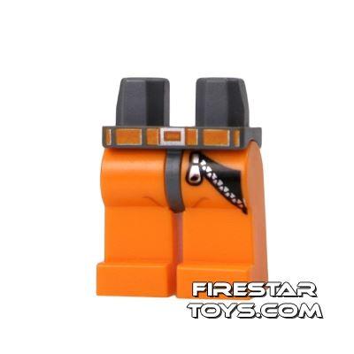 LEGO Mini Figure Legs - Orange With Zip