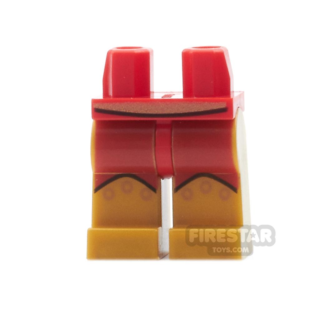 LEGO Mini Figure Legs - Hyperion Gold Belt