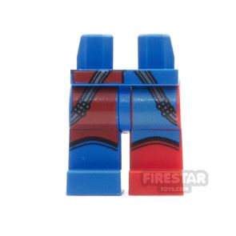 LEGO Mini Figure Legs - Harley Quinn- Blue And Red