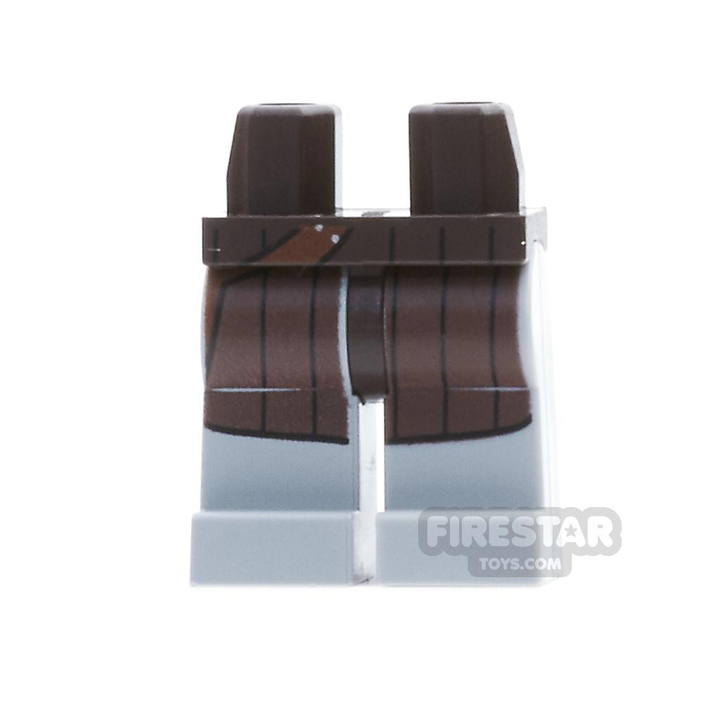 LEGO Mini Figure Legs - Light Bluish Gray Legs with Reddish Brown Coat Tails