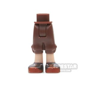 LEGO Elves Mini Figure Legs - Cropped Trousers with Reddish Brown Shoes