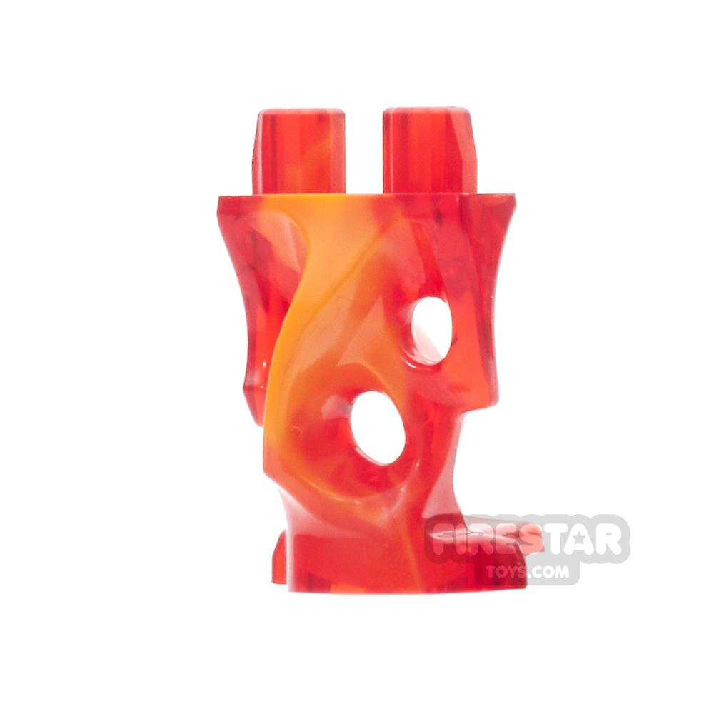 LEGO Mini Figure Legs - Ghost - Trans Red and Orange