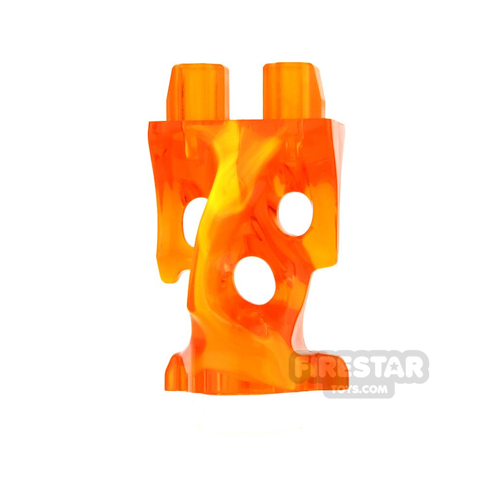 LEGO Mini Figure Legs - Ghost - Trans Orange and Yellow