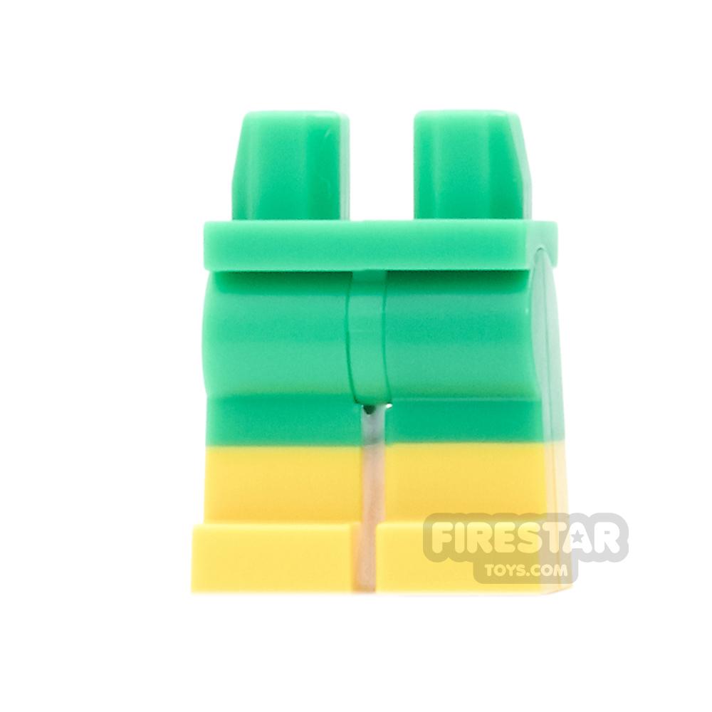LEGO Mini Figure Legs - Doc Ock - Bright Green  with Yellow Boots