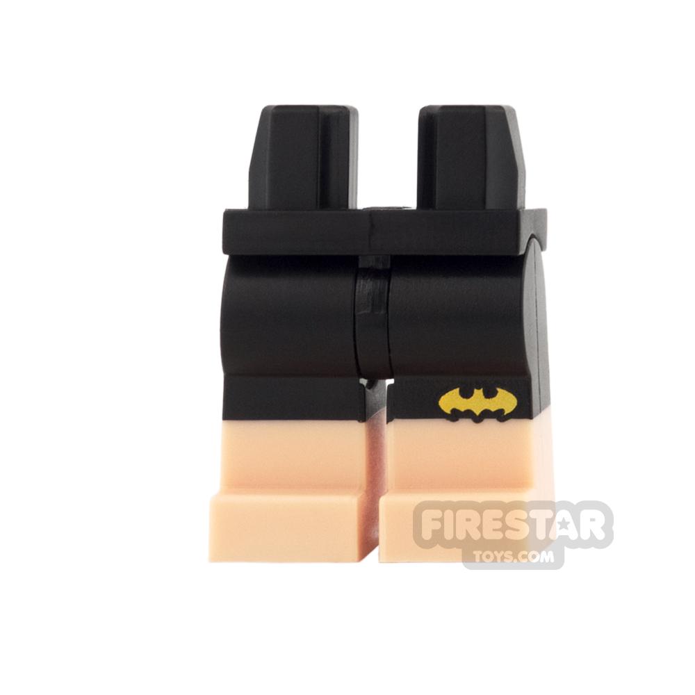 LEGO Mini Figure Legs - Black Shorts with Yellow Bat