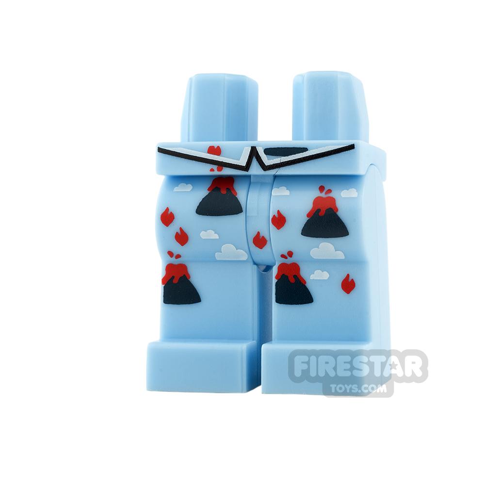 LEGO Mini Figure Legs - Volcano Pajamas