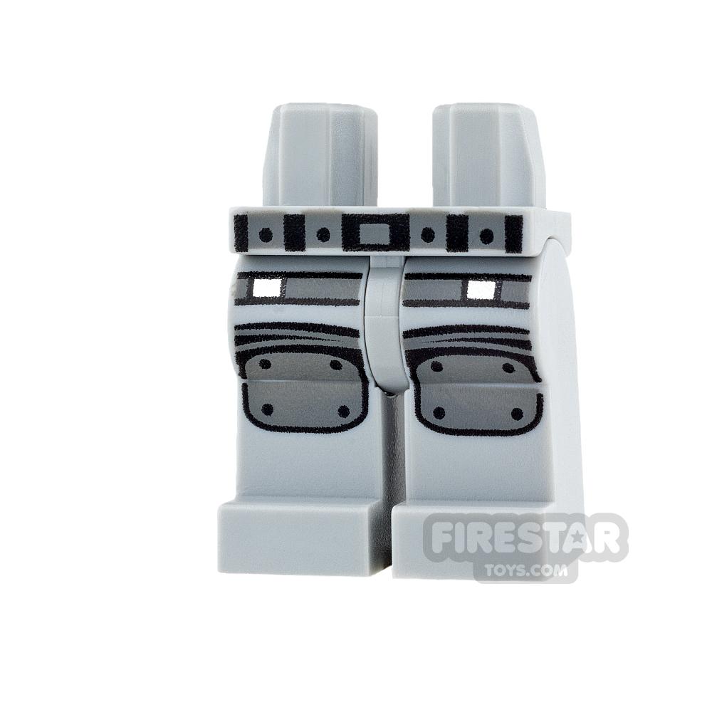 LEGO Mini Figure Legs - Light Blueish Gray with Knee Pads