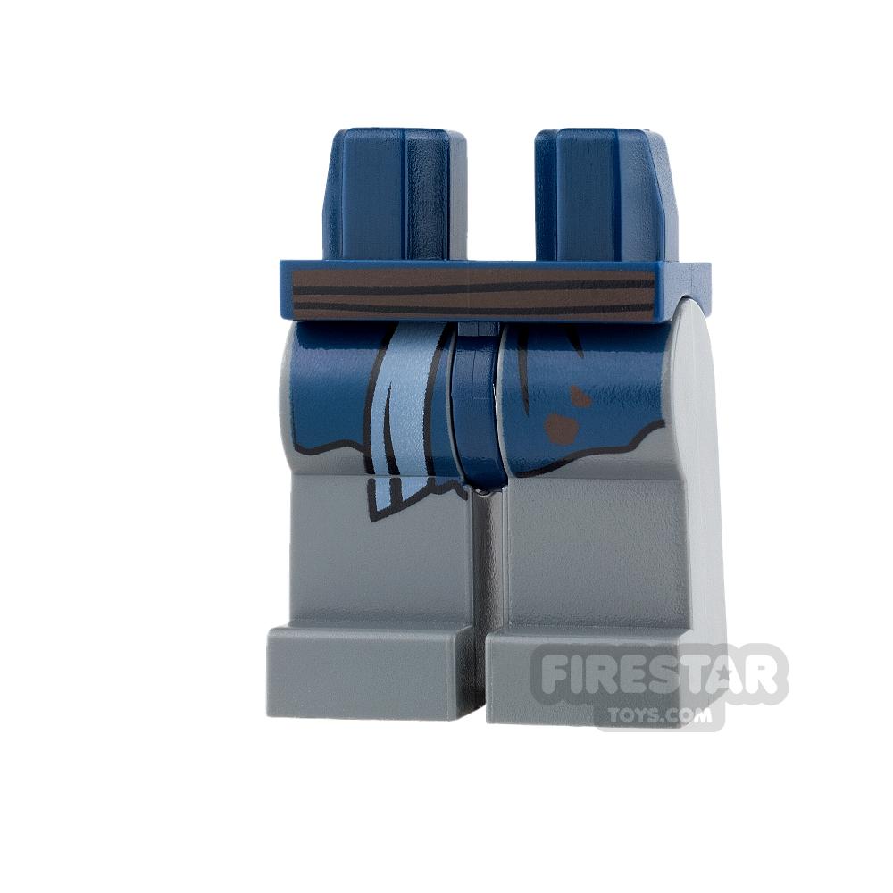 LEGO Mini Figure Legs - Dark Blueish Gray with Robe End