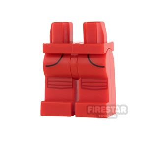 LEGO Mini Figure Legs - Red with Pockets and Knee Pads