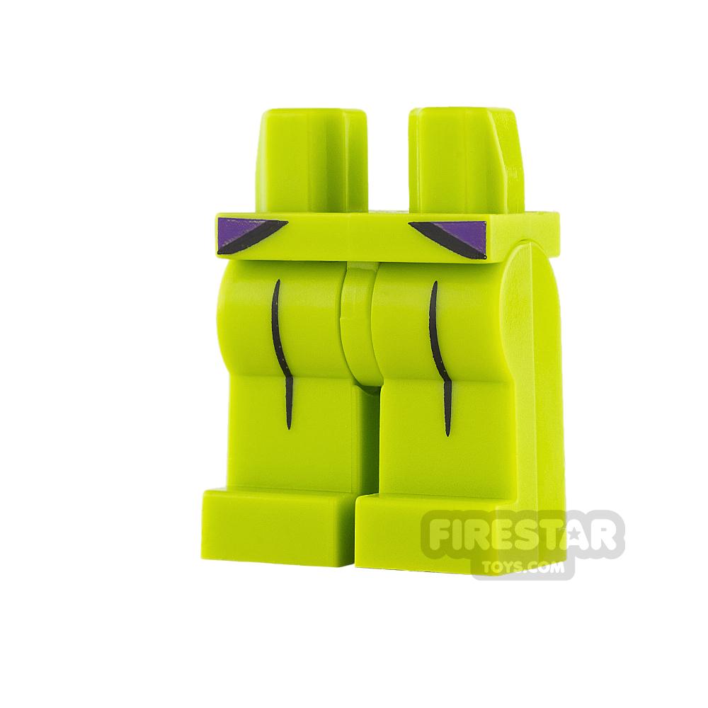 LEGO Mini Figure Legs - Lime with Black Creases