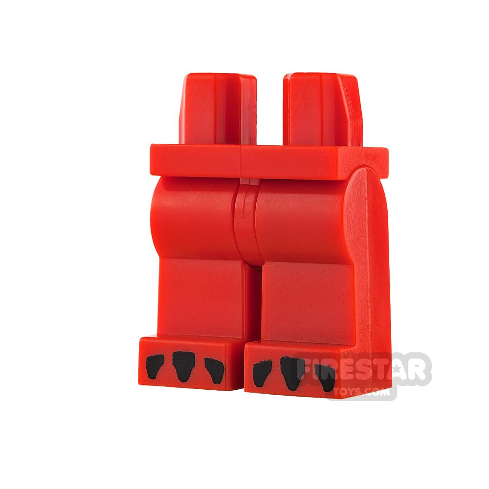 LEGO Mini Figure Legs - Dragon - Red