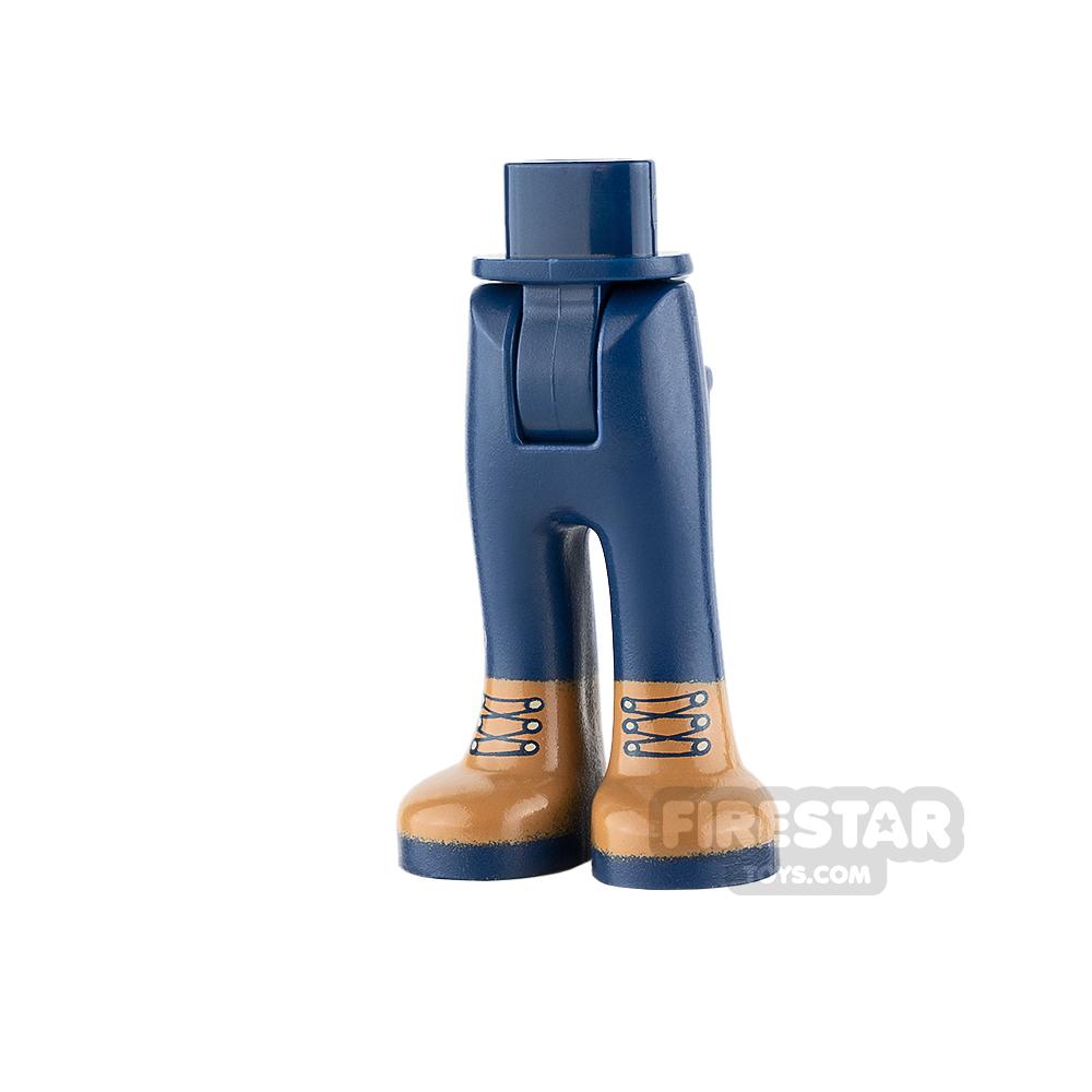 LEGO Friends Mini Figure Legs - Dark Blue Trousers with Boots