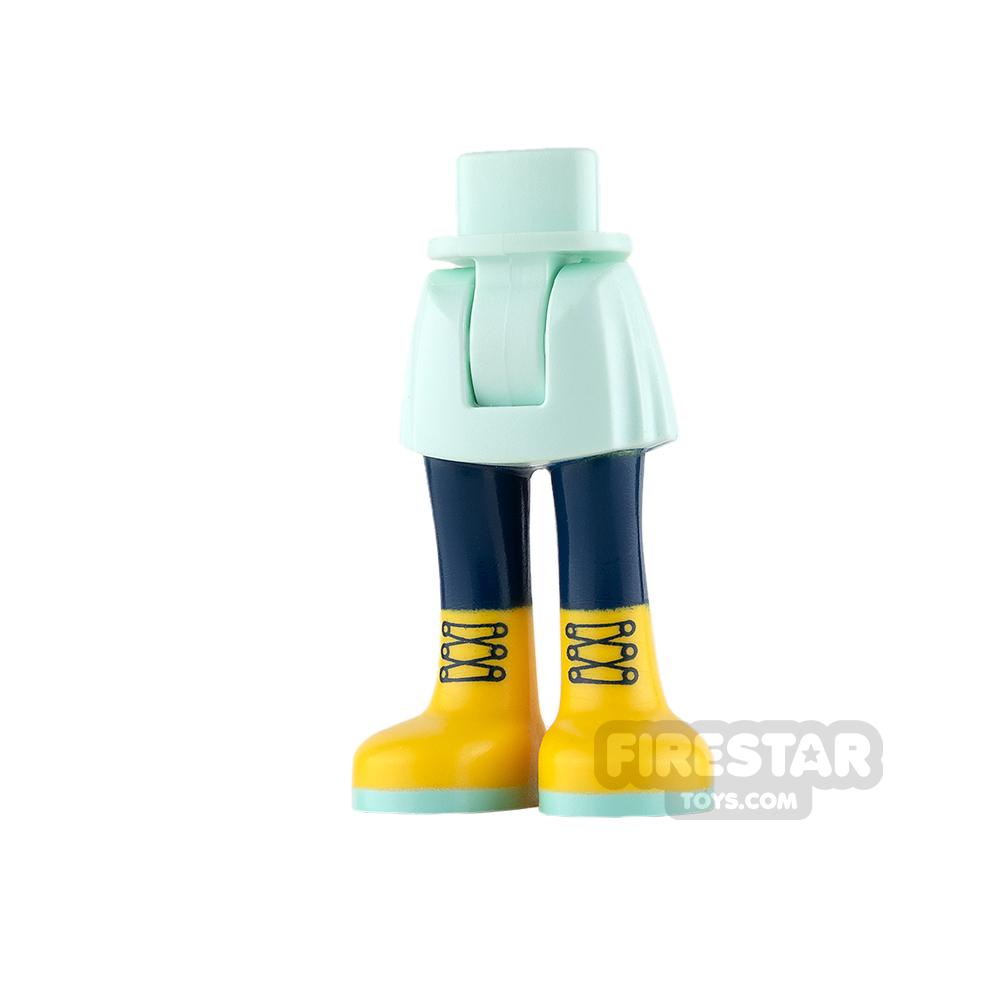 LEGO Friends Mini Figure Legs - Light Aqua with Yellow Boots