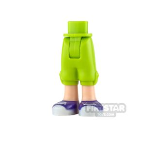 LEGO Friends Mini Figure Legs - Lime Cropped trousers with Trainers