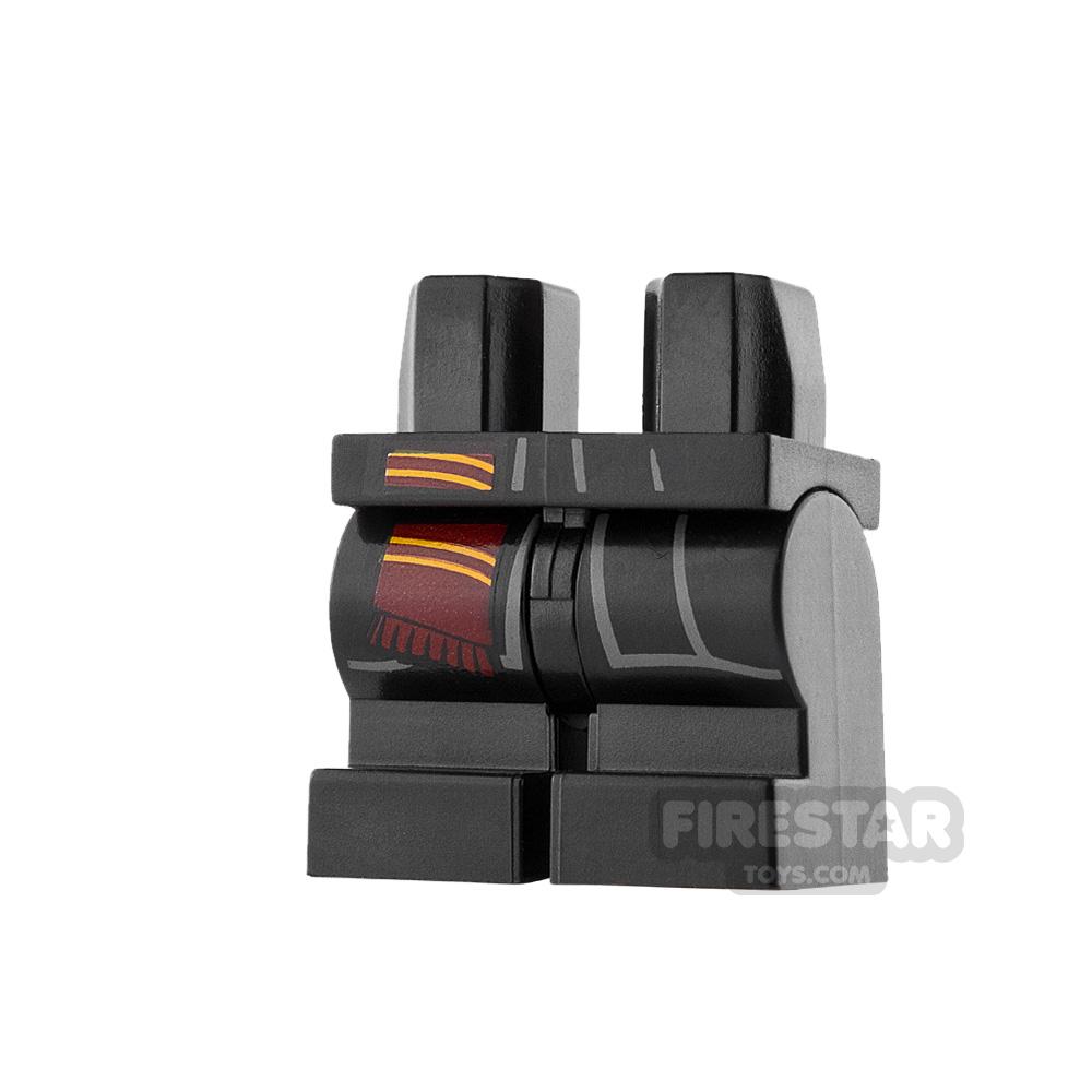 LEGO Mini Figure Legs - Medium - Black with Scarf End
