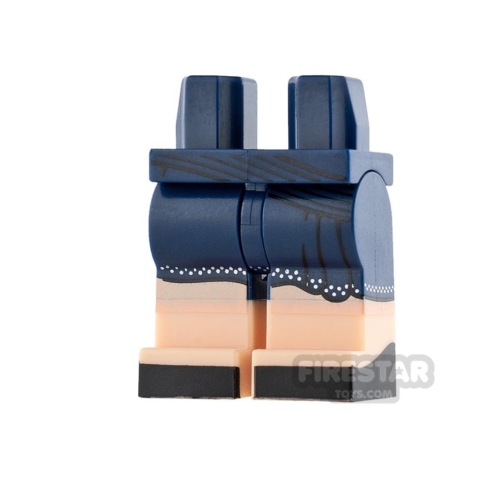 LEGO Mini Figure Legs - Dark Blue Skirt